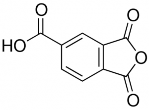 1,2,4-Benzenetricarboxylic газы, Trimellitic газы (TMA), CAS NO .: 552-30-7