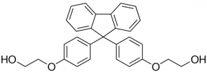 9,9-bis [4- (2-hydroxyethoxy) phenyl] fluorene (BPEF), CAS NO.:117344-32-8