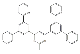 4،6-مكرر (3،5-دي (pyridin-2-YL) فينيل) -2-methylpyrimidine، B2PymPm، CAS NO.:1266181-51-4