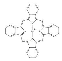 Copper phthalocyanine, CuPc, CAS NO .: 147-14-8