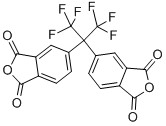 4,4 '- (Hexafluoroisopropylidene) אנהידריד diphthalic (6FDA), CAS NO.:1107-00-2